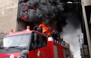 Пожар в сирийской больнице