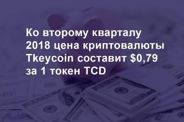 До выхода на ICO стоимость криптовалюты Tkeycoin будет увеличиваться