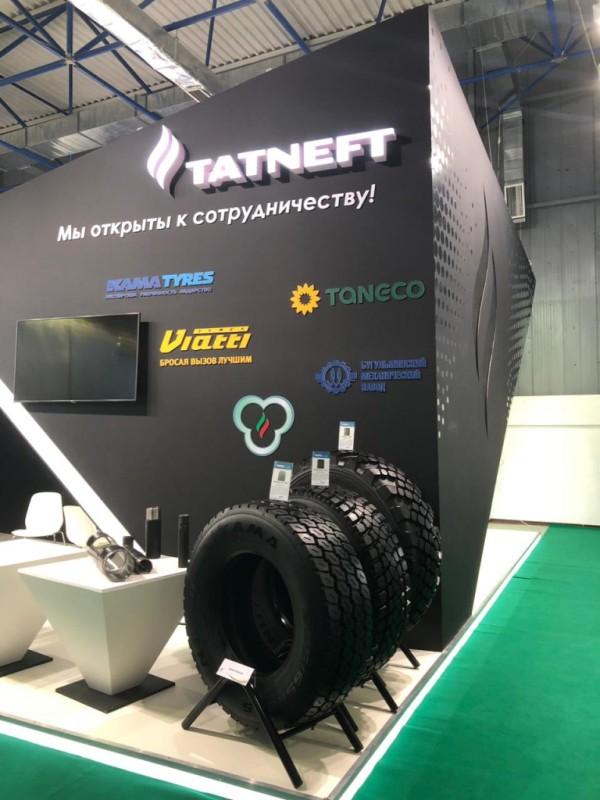В экспозицию KAMA TYRES на международной выставке «Нефть и Газ KIOGE 2018» вошли комбинированные и ЦМК шины