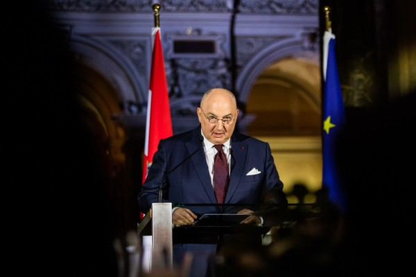 Вячеслав Моше Кантор наградил австрийского канцлера Себастьяна Курца за его вклад в дело борьбы против антисемитизма
