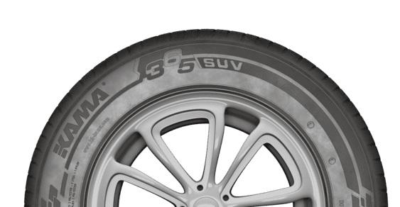 Максимально допустимая скорость для шин КАМА 365 SUV была увеличена до 190 км/ч