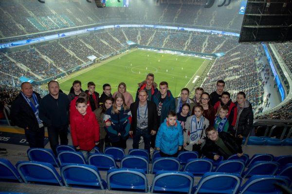 Михаил Романов пригласил школьников из Купчино на футбол на «Газпром арене»