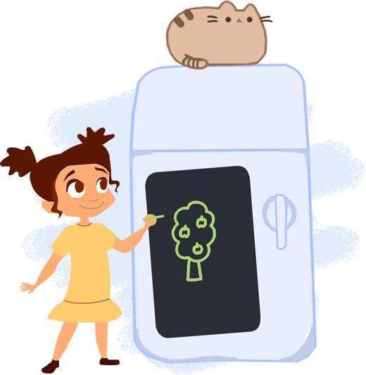 Doski4you: рисунки на холодильнике и стенах без вреда для имущества