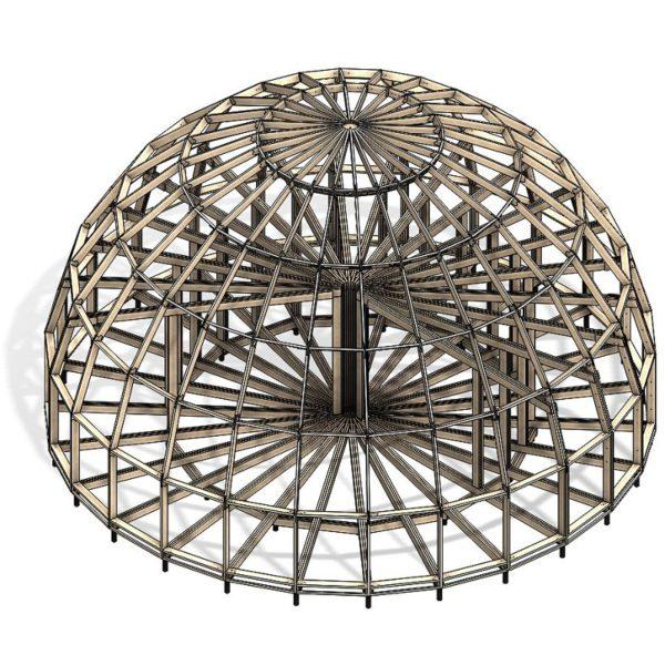 Без единого гвоздя: технология строительства купольных домов: Kempings Master