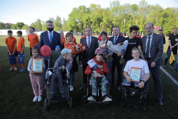 Михаил Романов открыл благотворительный футбольный матч в рамках ПМЭФ